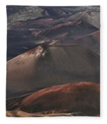 Pihanakalani Haleakala Volcano Sacred House Of The Sun Maui Hawaii Fleece Blanket