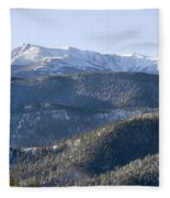 Pike National Forest In Snow Fleece Blanket