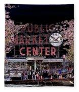 Pike Place Market IIi Fleece Blanket