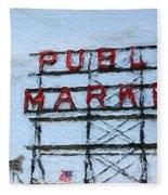 Pike Place Market Fleece Blanket