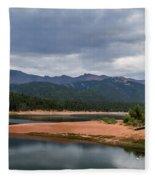 Pikes Peak From Crystal Creek Reservoir  Fleece Blanket