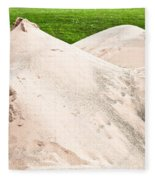 Pile Of Sand Fleece Blanket