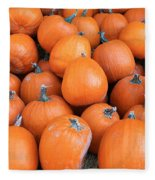 Piles Of Pumpkins Fleece Blanket