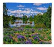 Pilgrim Creek Wildflowers Fleece Blanket