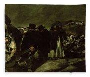 Pilgrimage To San Isidros Fountain, C.18213 Oil On Canvas Fleece Blanket