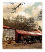 Pilgrims Hotel And Stalls Fleece Blanket