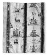 Pilgrims' Map, C1250 Fleece Blanket