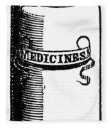 Pill Bottle, 19th Century Fleece Blanket