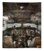 Pilot - Boeing 707  - Cockpit - We Need A Pilot Or Two Fleece Blanket