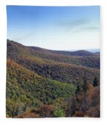 Pilot Mountain Near Balsam Grove Fleece Blanket