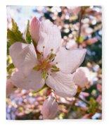 Pin Cherry Blooms Fleece Blanket