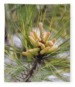 Pine Catkins Fleece Blanket