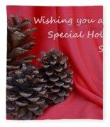 Pine Cones For The Holidays Fleece Blanket