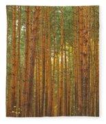 Pine Forest Lienewitz Germany Fleece Blanket