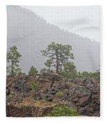 Pine On Lava Fleece Blanket