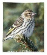 Pine Siskin Fleece Blanket