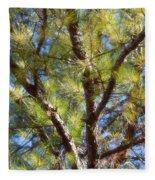 Pine Tree Glow 2014 Fleece Blanket