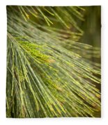 Pine Tree Needles Fleece Blanket