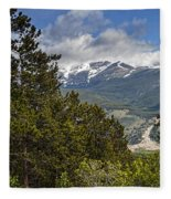 Pine Trees In The Rocky Mountain National Park Fleece Blanket