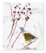 Pine Warbler-img-2143-001 Fleece Blanket