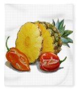 Pineapple And Habanero Peppers  Fleece Blanket