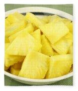 Pineapple Chunks Fleece Blanket