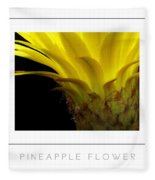 Pineapple Flower Poster Fleece Blanket