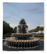 Pineapple Fountain Charleston Fleece Blanket