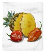 Pineapple Habanero Muy Caliente   Fleece Blanket