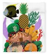 Pineapple Reef Fleece Blanket
