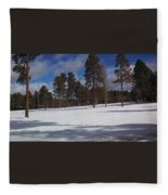 Pinetop Snowfall Fleece Blanket