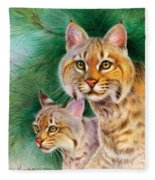 Pinewoods Bobcat Fleece Blanket
