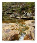 Piney Creek In Southern Illinois Fleece Blanket
