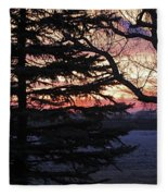 Piney Sunset Fleece Blanket