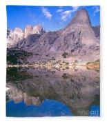 Pingora Peak On Lonesome Lake Fleece Blanket