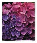 Pink And Blue Hydrangea Fleece Blanket