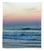 Pink And Blue Sky Fleece Blanket