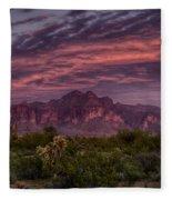 Pink And Purple Desert Skies  Fleece Blanket