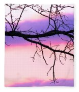 Pink And Purple Sunset Fleece Blanket