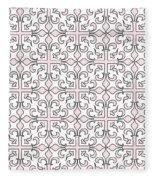Pink And White Interlude Fleece Blanket