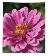 Pink And Yellow Flower Fleece Blanket
