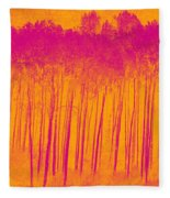Pink Aspen Trees Fleece Blanket