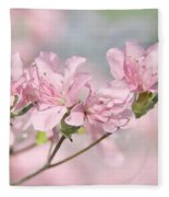 Pink Azalea Flowers In The Spring Fleece Blanket