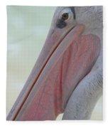 Pink Backed Pelican Fleece Blanket
