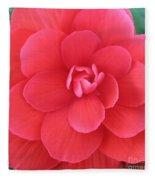 Pink Begonia Fleece Blanket