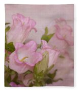 Pink Bell Flowers Fleece Blanket