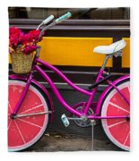 Pink Bike Fleece Blanket