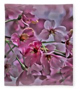 Pink Blossoms - Paint Fleece Blanket