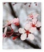 Pink Blossoms Fleece Blanket