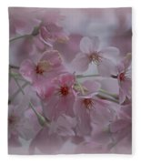 Pink Blossoms Fleece Blanket